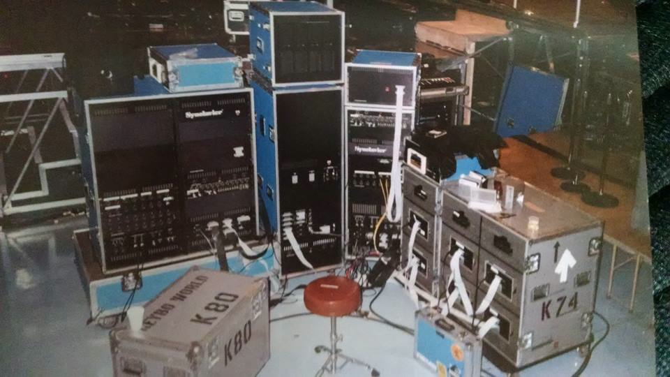 Chris Synclavier rig backstage Bad tour