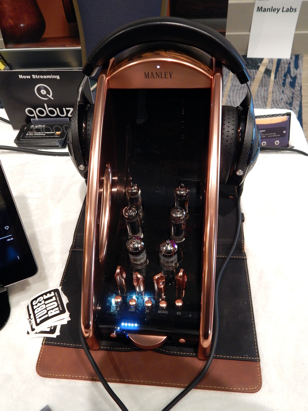 Manley Absolute Headphone Amplifier in Copper, Focal Utopia Headphones