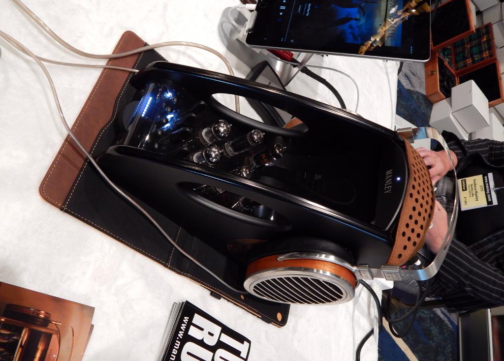 Manley Absolute Headphone Amplifier in Black, HiFiMan HE1000se Headphones