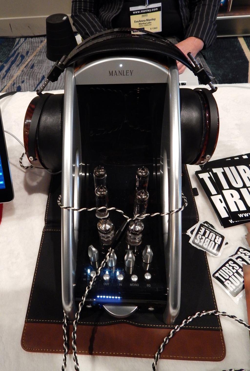 Manley Absolute Headphone Amplifier in Silver, Audeze LCD4 Headphones