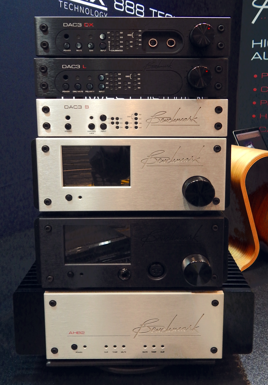 Benchmark DAC3 DX  DAC, Benchmark DAC3 L DAC, Benchmark DAC3 B Reference Quality DAC, Benchmark LA4 Line Amplifier, Benchmark HPA4 Headphone/Line Amplifier, Benchmark AHB2 Power Amplifier